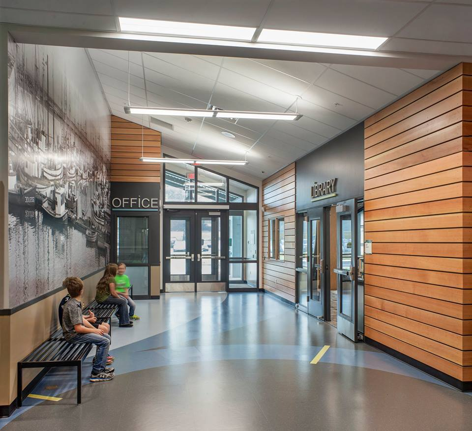 The Edge Apartments Vancouver: Westport Grade School & Tsunami Shelter
